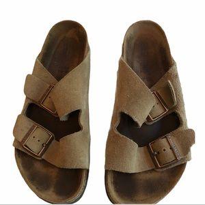 Birkenstock Arizona Sandals Taupe Size 39